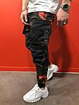 Мужские стильные джинсы (черно-зеленые) - Турция, фото 2
