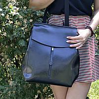 """Женский кожаный рюкзак, сумка для формата А4 """"Алиса Black"""""""