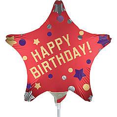 Мини-фигура ANAGRAM-АН Звезда Happy Birthday - горошек на красном