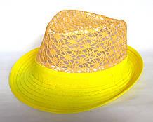 "Шляпа ""Челентанка"", желтая (54 см)"