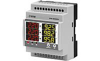 Щитовой модульный мультиметр в комплекте с трансформаторами тока вольтметр + амперметр + частотомер купить