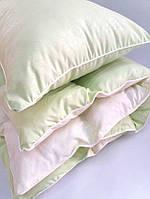 Комплект детский одеяло и подушка салатовый