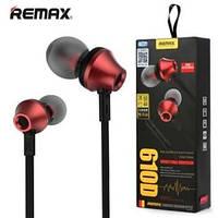 Навушники Remax RM-610D-RED вкладиші-вакуум з мікрофоном, колір: червоний