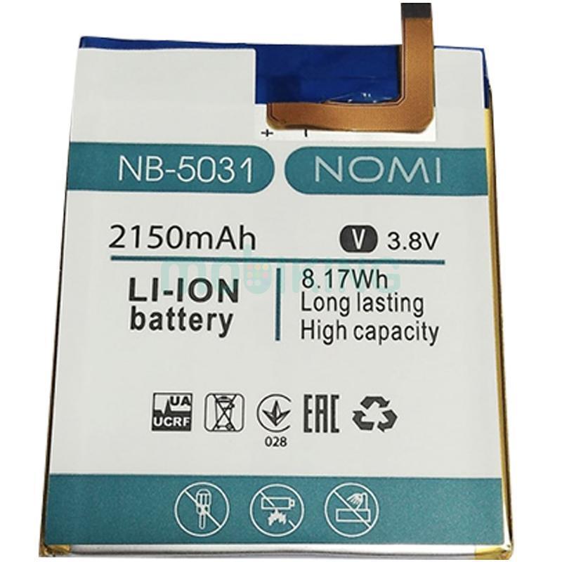 Оригинальная батарея на Nomi i5031 (NB-5031) для мобильного телефона, аккумулятор для смартфона.