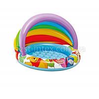 """Детский бассейн Intex 57424 Disney (102x69х13 см.) с навесом """"Винни Пух"""""""