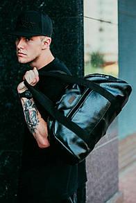 Дорожная сумка из черного кожзама