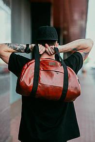 Дорожная сумка из рыжего кожзама