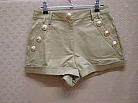 Женские бежевые  шорты, фото 1