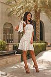 Шифоновое легкое платье в гороховый принт белое, фото 2
