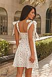 Шифоновое легкое платье в гороховый принт белое, фото 4