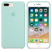 Силиконовый чехол для Apple iPhone 7 Plus / 8 Plus Silicone case (Светло-бирюзовый)