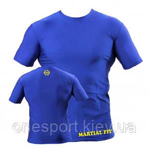 Футболка компрессионная BERSERK тренировочная MARTIAL FIT blu, red FC0011BLU 3XS(38) (код 243-254383)
