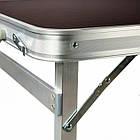 Стол алюминиевый раскладной для пикника + 4 стула (Чемодан) Усиленный , фото 3
