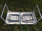 Стол алюминиевый раскладной для пикника + 4 стула (Чемодан) Усиленный , фото 4