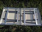Стол алюминиевый раскладной для пикника + 4 стула (Чемодан) Усиленный , фото 9