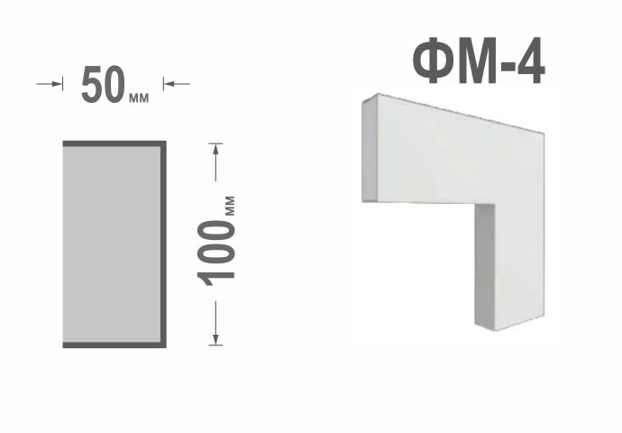 Фасадный молдинг (наличник) Фм-4