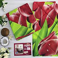 Постельное белье двуспальное с цветочным принтом
