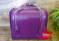 """Фиолетовый чемодан для маникюра """"крокодил"""", фото 1"""