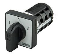 Кулачковый переключатель 12-полюсный (1-0-2) 12х16А