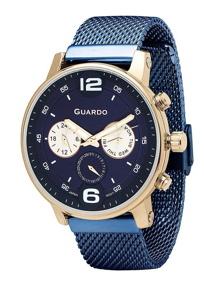 Часы мужские Guardo 12432(2)-4 синие