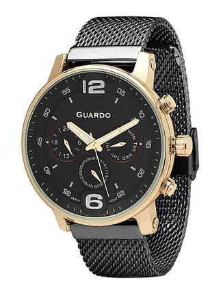Часы мужские Guardo 12432(2)-5 черные, фото 2