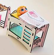 Двухъярусная кровать для кукол ЛОЛ розовая (kml006), фото 2