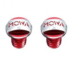 Заглушки пивотов V-Brake, MOWA, красные, резьба M8, 2 шт