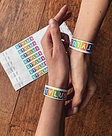 Контрольные браслеты с полноцветной печатью