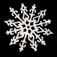 Украшение Снежинка Морозный узор 10х10см уп 10шт