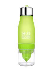 Пляшка для води та напоїв H2O з цитрусовою соковижималкою 650 мл Зелена (SUN0031)