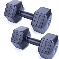 Гантели композитные Spokey MONSTER 2х6 кг Черные (s0269)