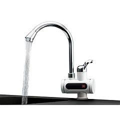 Кран-водонагреватель проточный Delimano Instant Heating Faucet c LCD-дисплеем 3 кВт Белый (502202)