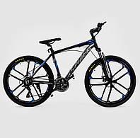 """Велосипед Спортивный CORSO 26""""дюймов JYT 006 - 9547 BLACK-BLUE SPIDER Алюминий, 21 скорость"""