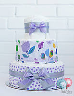 Торт из памперсов / подгузников - Цветы. Подарок новорожденному / на выписку из роддома / на крестины