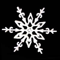 Украшение Снежинка Морозный рисунок 11х11см уп 10шт