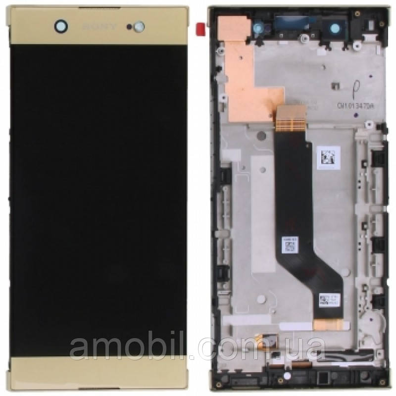 Дисплей + Сенсор з рамкою Sony G3112 Xperia XA1 / G3116 / G3121 / G3123 / G3125 orig gold