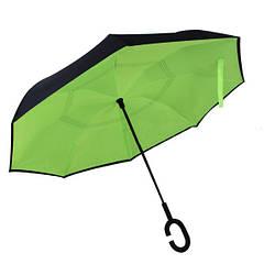 Зонт обратного сложения Up-Brella Салатовый + чехол (38000-nri)