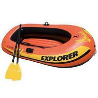 Лодка надувная Intex EXPLORER 200 на 2 Красный