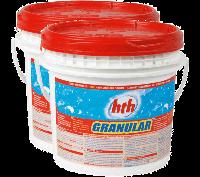 Hth хлор шок грануляр для общественных бассейнов, без резкого запаха хлора 25 кг