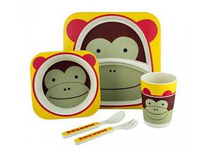 Набор детской посуды Kronos Toys Бамбук Мартышка Майк Разноцветный (tps_88-8720878)