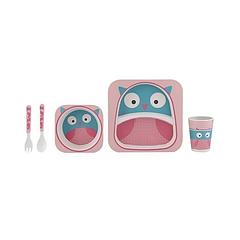 Набор детской посуды Kronos Toys Бамбук Совушка (tps_88-8720828)