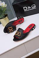 Шлепанцы Dolce & Gabbana  80999 BLACK, фото 1