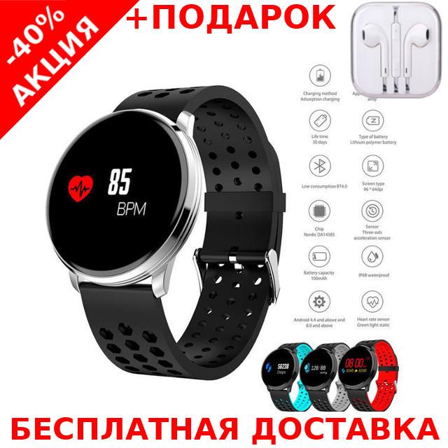 Наручные часы Smart M9 фитнес трекер Original size + наушники iPhone 3.5