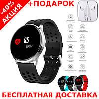 Наручные часы Smart M9 фитнес трекер Original size + наушники iPhone 3.5, фото 1