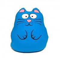 Подушка антистресс Муфта Кот (голубой)