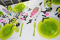 Вилки стеклопластик зеленые 188 мм 12 шт
