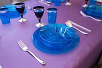 Тарелки глубокие стеклопластик синие 300 мл 6 шт