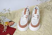 Женские кроссовки Atomio Lardini на высокой подошве натуральная кожа\замш, фото 3