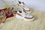 Женские кроссовки Atomio Lardini на высокой подошве натуральная кожа\замш, фото 5