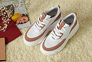 Женские кроссовки Atomio Lardini на высокой подошве натуральная кожа\замш, фото 7